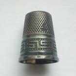 Наперсток старинный серебро Европа 925 проба, фото №2
