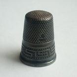 Наперсток старинный серебро Европа 925 проба, фото №5