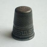 Наперсток старинный серебро Европа 925 проба, фото №6