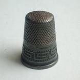 Наперсток старинный серебро Европа 925 проба, фото №7