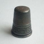 Наперсток старинный серебро Европа 925 проба, фото №8