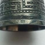 Наперсток старинный серебро Европа 925 проба, фото №10