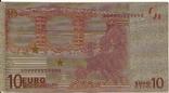 Позолоченная сувенирная банкнота 10 Euro (24K) в защитном файле / сувенір, фото №8