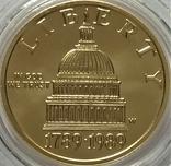 5 доларів 1989 року, Bicentennial of the congress, 200-ліття Конгресу США, фото №2