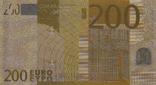 Позолоченная сувенирная банкнота 200 Euro (24K) в защитном файле / сувенірна банкнота, фото №7