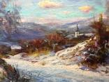 Закарпатский пейзаж масло холст 60/80, фото №3