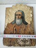 Икона с бусами и канителью, фото №5