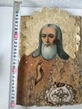 Икона с бусами и канителью, фото №6