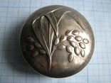 Шкатулка серебро 800пр. вес - 36,3г, фото №2