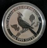 Австралия 1 доллар 2019 г. Райская Птица серебро 1 унция 999 пробы, фото №2