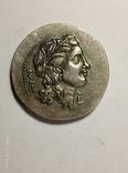 Древняя Греция копия монеты посеребренная г83, фото №3