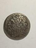 Древняя Греция копия монеты посеребренная г84, фото №2