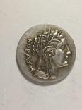 Древняя Греция копия монеты посеребренная г87, фото №2