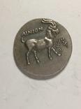 Древняя Греция копия монеты посеребренная г88, фото №3