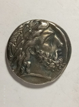 Древняя Греция копия монеты посеребренная г90, фото №2