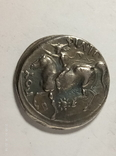 Древняя Греция копия монеты посеребренная г90, фото №3