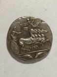 Древняя Греция копия монеты посеребренная г91, фото №3