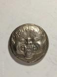 Древняя Греция копия монеты посеребренная г94, фото №2