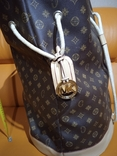 Большая фирменная кожаная сумка, фото №2