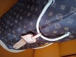 Большая фирменная кожаная сумка, фото №7