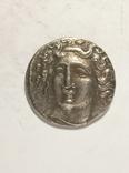 Древняя Греция копия монеты посеребренная г103, фото №2