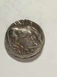 Древняя Греция копия монеты посеребренная г103, фото №3