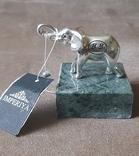 Статуэтка фигурка миниатюра серебро серебряная Слоник, фото №2