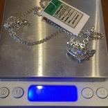 Серебряная цепочка с золотой короной, фото №7