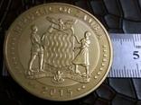 10 000 квач 2015 року ЗАМБІЯ -копія /позолота 999/, фото №3