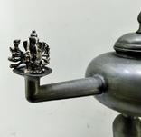 Старинная Масляная лампа Германия, олово, с фигуркой Ганеша, фото №4