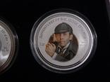 """Набор из 4 монет """"Шерлок Холмс"""" - 4 унции, серебро 999 - ПОЛНЫЙ КОМПЛЕКТ, фото №4"""