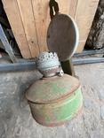 Лампа керосиновая. Зелёная., фото №4