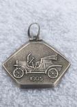 Серебряный медальон 800 пробы, фото №2
