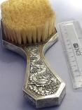 Одёжная щётка, оправа серебро, Индокитай. Красивая., фото №7