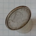 25 центов 1967г Канада серебро, фото №4