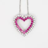 """Итальянская серебряная подвеска """"сердце"""" на цепочке, фото №2"""