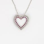 """Итальянская серебряная подвеска """"сердце"""" на цепочке, фото №3"""