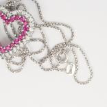 """Итальянская серебряная подвеска """"сердце"""" на цепочке, фото №4"""