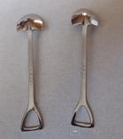 Сувенирные ложечки в виде лопаты.2 шт., фото №3