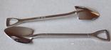 Сувенирные ложечки в виде лопаты.2 шт., фото №5