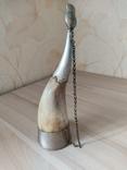 Рог сувенирный 22 см, фото №2
