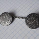 Пуговицы на цепочке корона орёл 6 крейцеров 1800 Австрия, фото №2