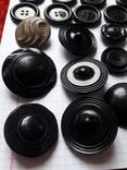 Винтажные пуговицы на жупан корсетку верхнюю одежду ( бакелит) 21 шт, фото №5