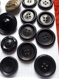 Винтажные пуговицы на жупан корсетку верхнюю одежду ( бакелит) 21 шт, фото №8