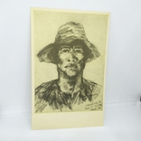 Открытка Вьетнам. Мужчина в шляпе. чистая, фото №2