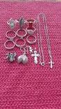 Лот серебряных ювелирных изделий, фото №2