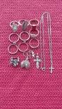 Лот серебряных ювелирных изделий, фото №3