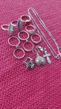 Лот серебряных ювелирных изделий, фото №4