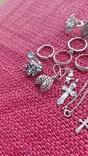 Лот серебряных ювелирных изделий, фото №6