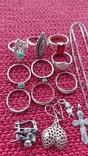 Лот серебряных ювелирных изделий, фото №9